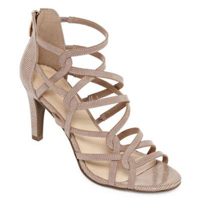 Liz Claiborne Womens California Pumps Zip Open Toe Stiletto Heel