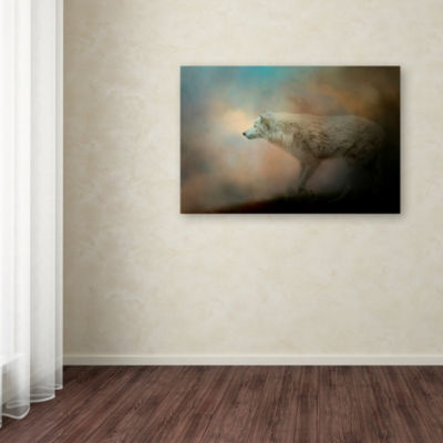 Trademark Fine Art Jai Johnson Journey Of The Timber Wolf Giclee Canvas Art