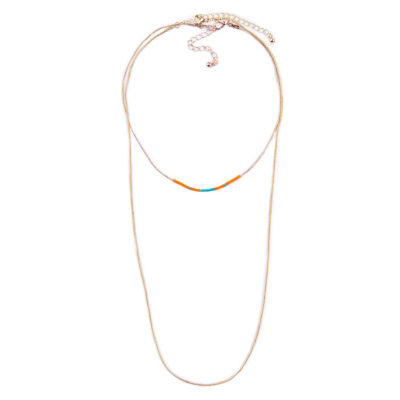 Arizona Womens 2-pack Brass Necklace Set