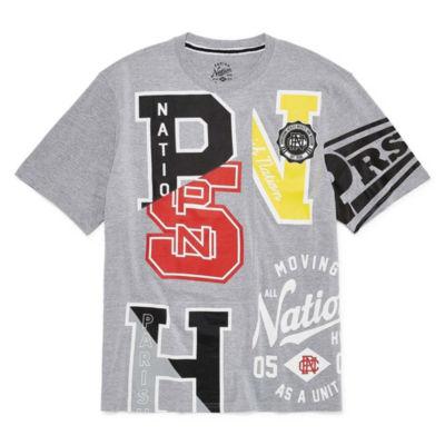 Parish Short Sleeve Crew Neck T-Shirt-Big and Tall