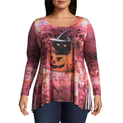 Unity World Wear Bewitching Purr Graphic Tee - Plus