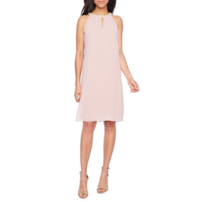 S. L. Fashions Sleeveless Beaded A-Line Dress