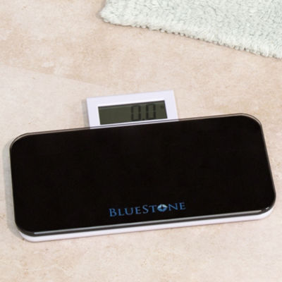 Bluestone Glass Digital Body Scale with Expandable Readout - Black