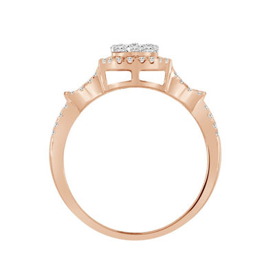 Womens 1/2 CT. T.W. White Diamond 14K Rose Gold Engagement Ring
