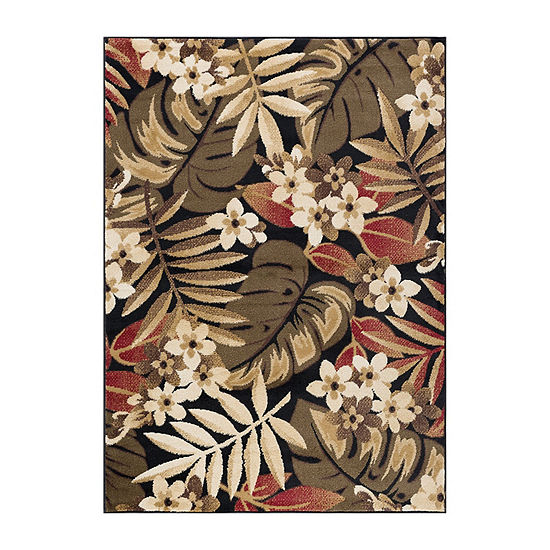 Tayse Carribe Transitional Floral Rug Collection
