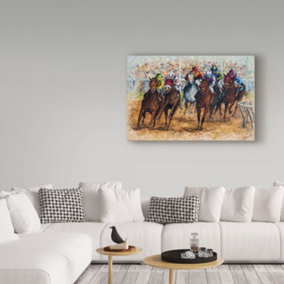 Trademark Fine Art Sher Sester The Derby Giclee Canvas Art
