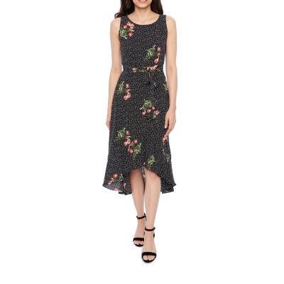 Studio 1 Sleeveless Floral A-Line Dress-Petite