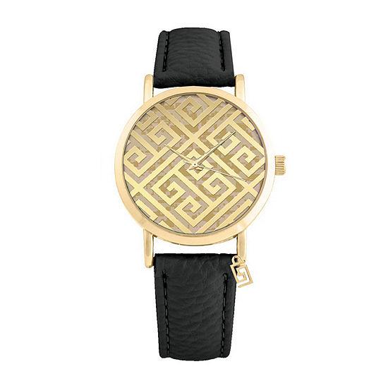 Mixit Key Dial Womens Black Strap Watch-Pt3162agdbk