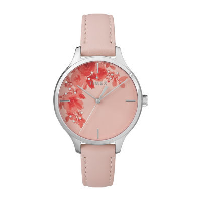 Timex Womens Pink Strap Watch-Tw2r66600jt