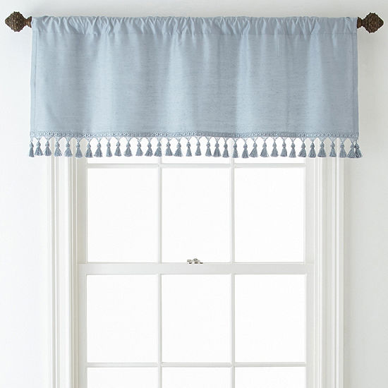 JCPenney Home Supreme Rod-Pocket Tailored Valance With Tassels