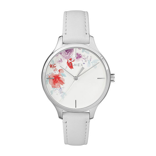 Timex Womens White Strap Watch Tw2r66800jt