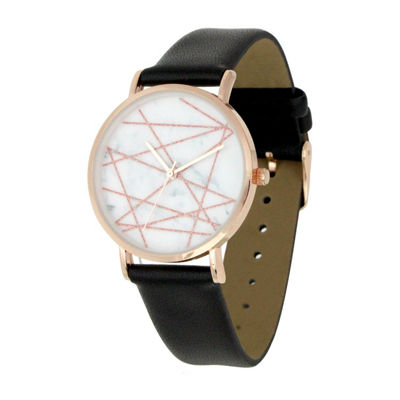 Mixit Marble Womens Black Strap Watch-Pt5276ergbk
