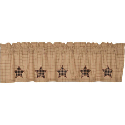 Classic Country Window Bingham Star Applique Star Valance