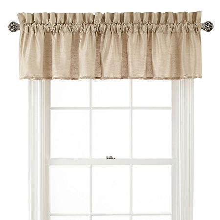 JCPenney Home Supreme Rod-Pocket Insert Valance, One Size , Beige