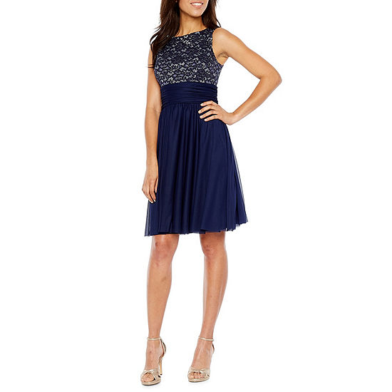 Jessica Howard Sleeveless Floral Fit & Flare Dress