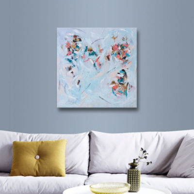 Brushstone Abstract Entwined Gallery Wrapped Canvas