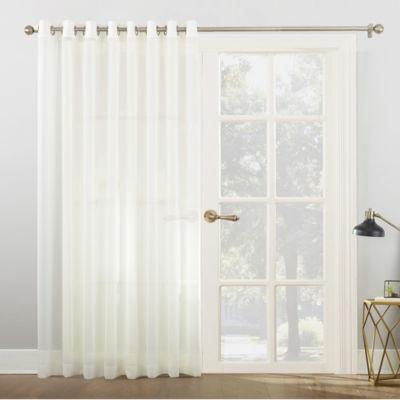 Elegant Sun Zero Emily Patio Sheer Grommet Top Patio Door Curtain