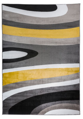 World Rug Gallery Abstract Contemporary Modern Area Rug