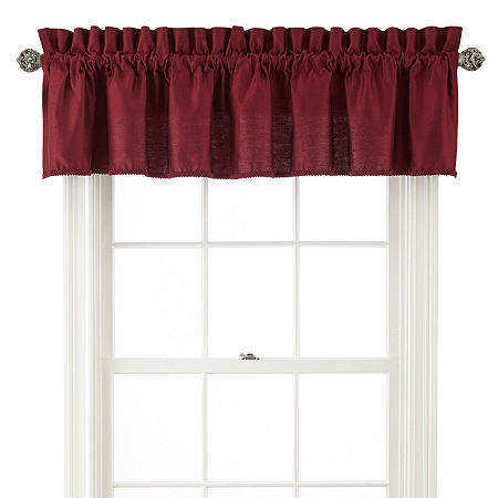 JCPenney Home Supreme Rod-Pocket Insert Valance, One Size , Red