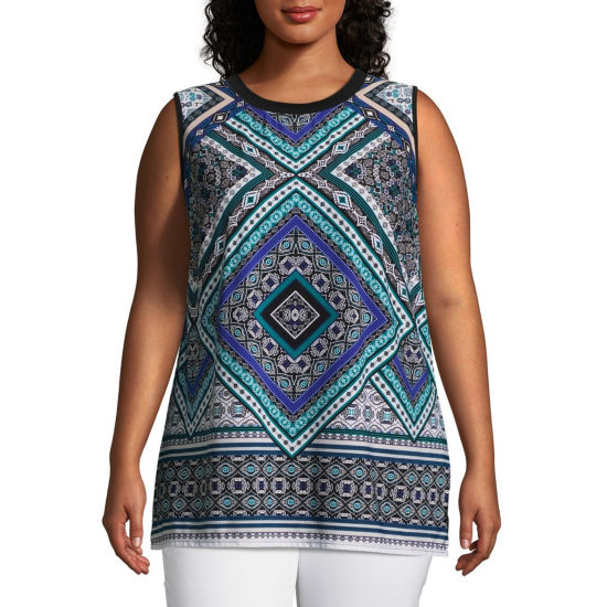 Alyx Sleeveless Printed Knit Tank Top - Plus
