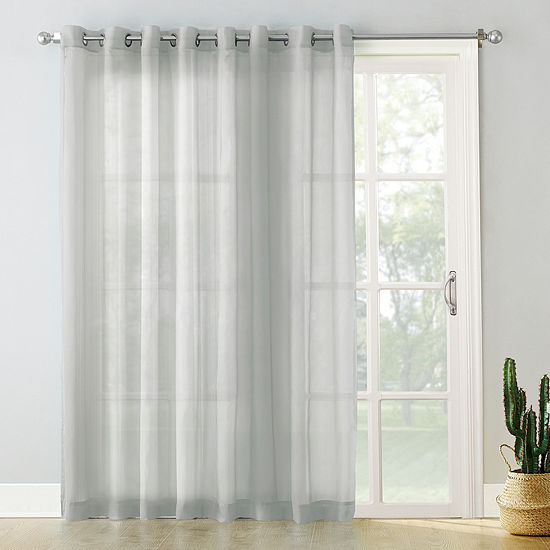 No 918 Emily Patio Light-Filtering Grommet-Top Single Patio Door Curtain