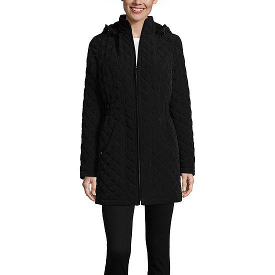 Liz Claiborne Hooded Lightweight Quilted Jacket
