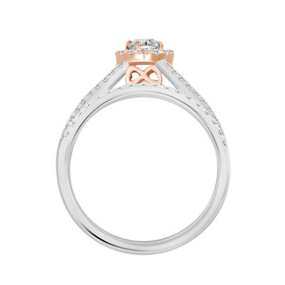 Womens 3/4 CT. T.W. White Diamond 14K Rose Gold 14K White Gold Bridal Set