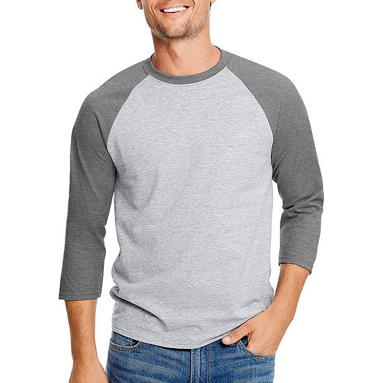 aa54264d Hanes 3/4 Sleeve Crew Neck T Shirt JCPenney