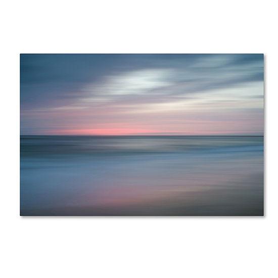 Trademark Fine Art PIPA Fine Art The Colors of Evening on the Beach Giclee Canvas Art