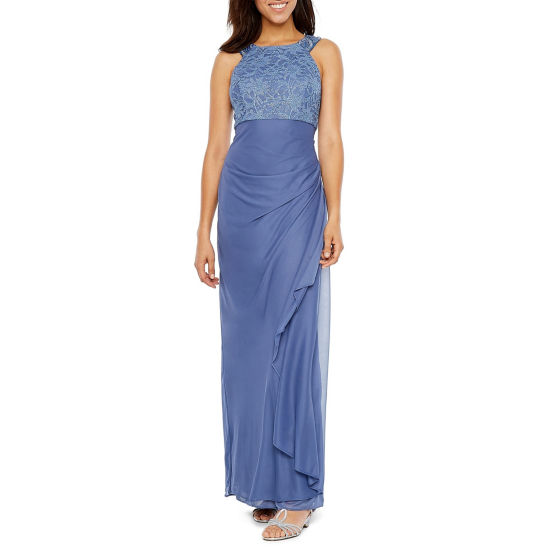 Jackie Jon Sleeveless Beaded Evening Gown