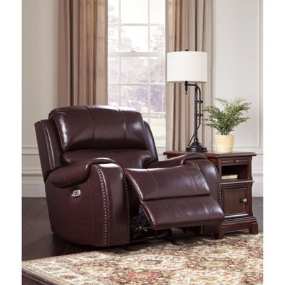 Signature Design By Ashley® Gilmanton Leather Power Recliner