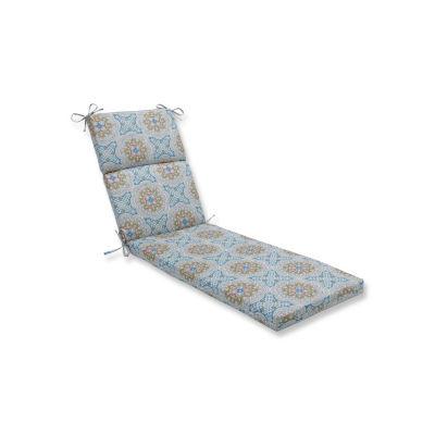 Pillow Perfect Astrid Aqua Patio Chaise Lounge Cushion