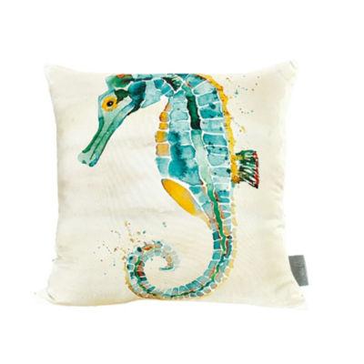 Sara B Seahorse Square Pillow