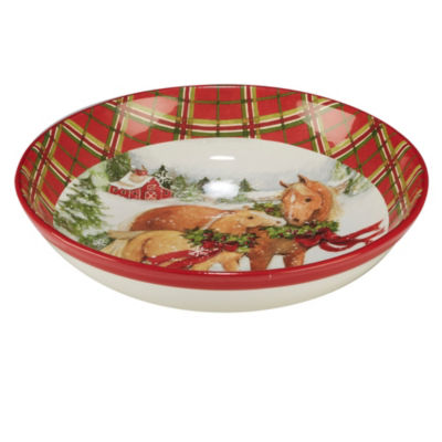 Certified International Christmas On The Farm Serving Bowl