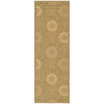 Safavieh Courtyard Collection Crystal Oriental Indoor/Outdoor Runner Rug