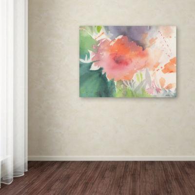 Trademark Fine Art Sheila Golden Coral Blossom Giclee Canvas Art