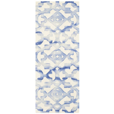 Safavieh Dip Dye Collection Joakim Geometric Runner Rug