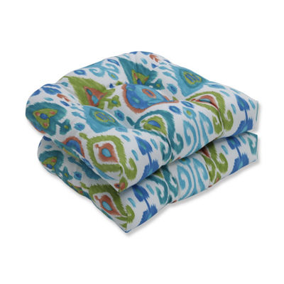 Pillow Perfect Set of 2 Paso Caribe Wicker Patio Seat Cushion