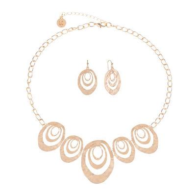 Liz Claiborne Rose Tone 2-pc. Jewelry Set