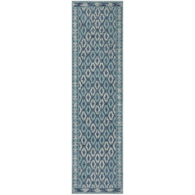 Safavieh Courtyard Collection Trent Geometric Indoor/Outdoor Runner Rug