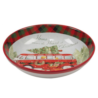 Certified International Home For Christmas Serving Bowl