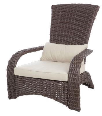 Master Deluxe Coconino Wicker Adirondack Chair