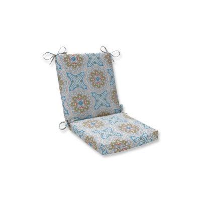 Pillow Perfect Astrid Aqua Squared Corners Patio Chair Cushion