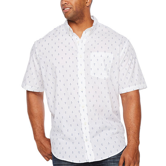 IZOD Big and Tall Breeze Shirt Mens Short Sleeve Cooling Moisture Wicking Button-Down Shirt
