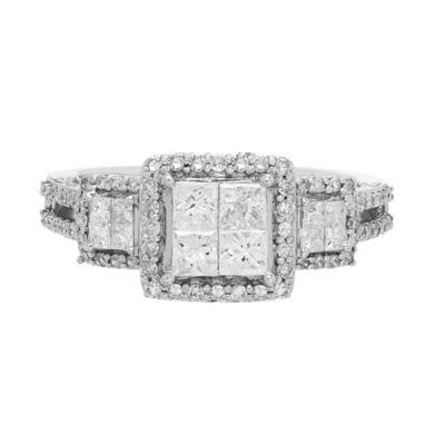 Love Lives Forever Womens 1 CT. T.W. White Diamond 10K Gold 3-Stone Ring