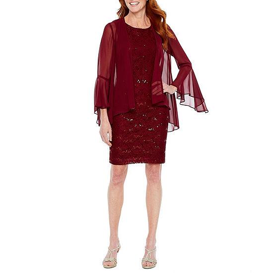 Scarlett 3/4 Sleeve Sequin Lace Jacket Dress