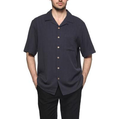 Sandals Cay Men's Herringbone Silk Camp Shirt - Big