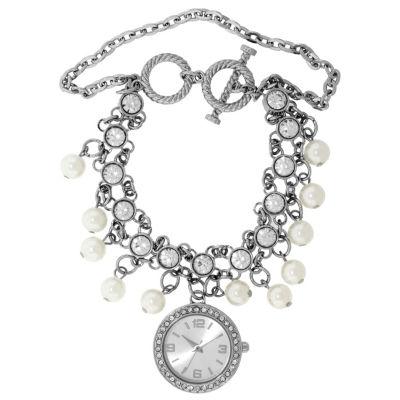 Mixit Womens Silver Tone Bangle Watch-18607