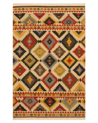 Handwoven Wool Traditional Geometric Kilim Rug