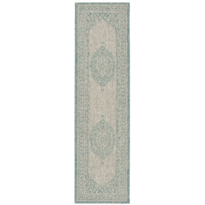 Safavieh Courtyard Collection Adria Oriental Indoor/Outdoor Runner Rug